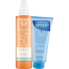Vichy Capital Soleil Beach Protect Spf50 Spray Anti-Déshydratation 200 ml + Lait Apaisant Après-Soleil 100 ml Offert