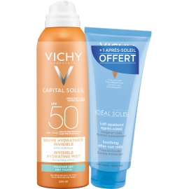 Vichy Ideal Soleil Spf 50 Coffret Brume Hydratante Invisible 200 ml