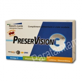 CHAUVIN BAUSCH&LOMB PRESERVISION 3 PROTECTION YEUX 60 CAPSULES