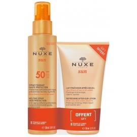 Nuxe Sun Spray Solaire SPF50 150ml + Après-Soleil 100ml Offert