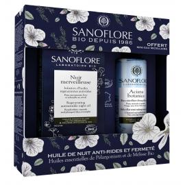 Sanoflore Coffret Nuit merveilleuse 30ml Certifié Bio Mini eau micellaire Aciana Botanica 50ml