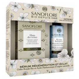 Sanoflore Coffret Elixir des reines 30ml Certifié Bio + Mini eau micellaire Aciana Botanica 50ml