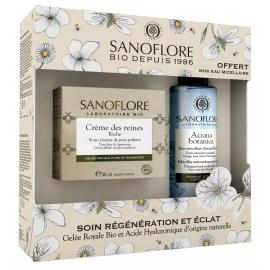 Sanoflore Coffret Crème des Reines jour riche éclat certifiée bio 50ml + mini eau micellaire 50ml Aciana Botanica