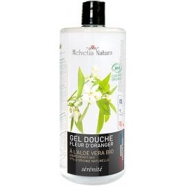 Helvetia Natura® Gel Douche Aloe vera Fleur d'Oranger 1L