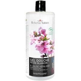 Helvetia Natura® Gel Douche Aloe vera Pêche blanche 1L