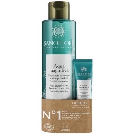 Sanoflore Lotion visage Aqua Magnifica Bio 200 ml + Crème magnifica 10ml Offerte