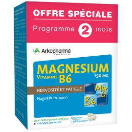 Arkopharma Magnésium Vitamine B6 120 Gélules