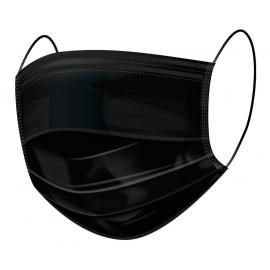 Masque chirurgical Type IIR noir Boite de 50 Orgakiddy