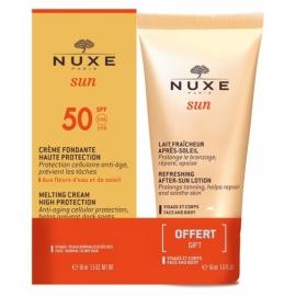 Nuxe Sun Crème Fondante Visage SPF50 + Après-Soleil 50ml Offert