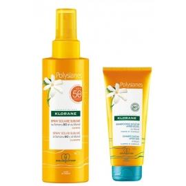 Klorane Spray Solaire Sublime SPF50 200 ml + Shampoing Douche 75 ml