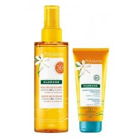 Klorane Huile Seche Solaire SPF30 + Shampoing Douche 75 ml