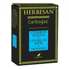 Herbesan Carbogaz Charbon Végétal 45 comprimés