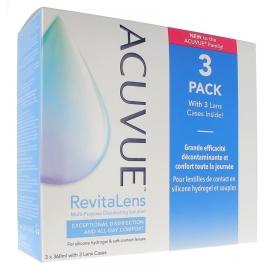 Acuvue Revitalens Solution décontaminante 3 x 360 ml