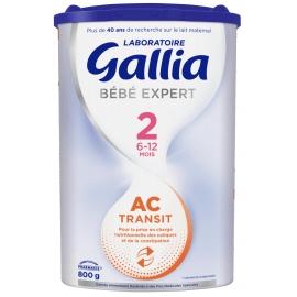 Gallia Lait AC Transit 2 - 6-12 mois 800 g