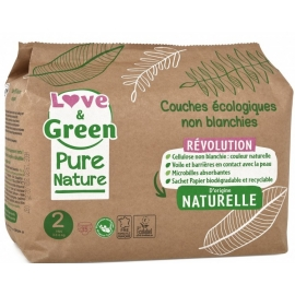 Love&Green Couches écologiques Pure Nature Taille 2 x 35