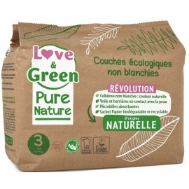 Love&Green Couches écologiques Pure Nature Taille 3 x 42