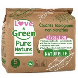Love&Green Couches écologiques Pure Nature Taille 5 x 33