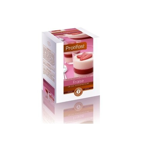 """Protifast Preparation Pour Entremets, Mousse ou """"milk-shake"""" Fraise X 7 Sachets"""