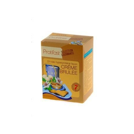 Protifast En-cas Hyperproteine Selection Gourmande Preparation Pour Creme Brulee 7 Sachets