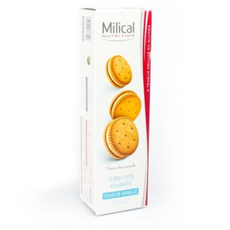 Milical 12 Biscuits Saveur Vanille