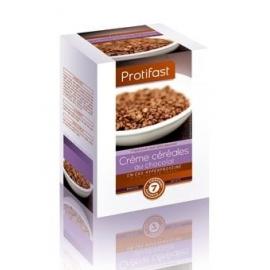 Protifast En-cas Hyperproteine Preparation Pour Creme Cereales AU Chocolat 7 Sachets