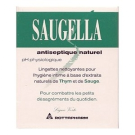Saugella Lingettes Antiseptique Naturel X 10