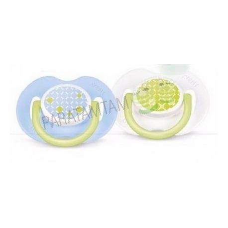 Avent sucettes 0-6 mois décorées sans BPA lot de 2