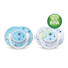 Avent sucettes 0-6 mois nuit décorées  sans BPA lot de 2