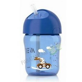 Avent tasse 12 mois+ avec paille bleue 260 ml