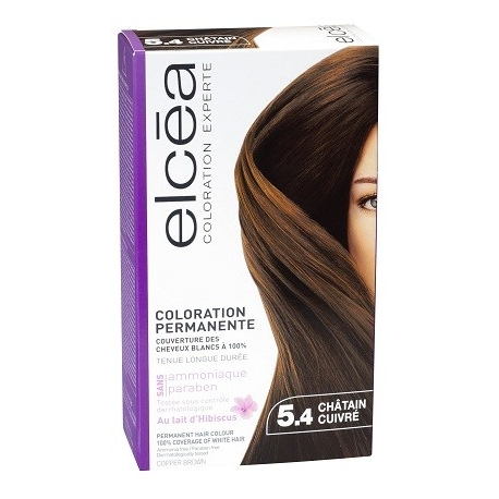 Elcea Coloration Permanente Chatain Cuivre 5,4