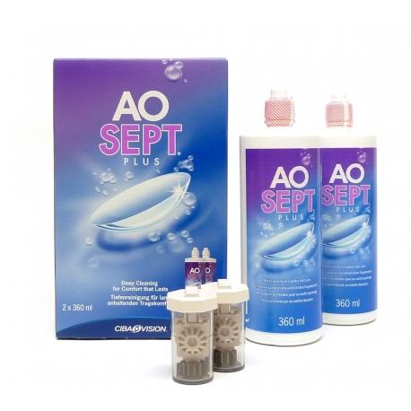 AOsept Plus Solution pour Lentilles 2 x 360ml
