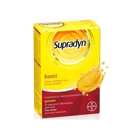Supradyn Boost Au Guarana 20 Comprimes Effervescents