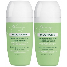 Klorane Déodorant Roll-on 2 x 40 ml